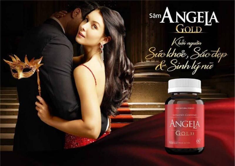 Hình ảnh Sâm Angela Gold tăng cường sinh lý nữ, chống lão hóa da