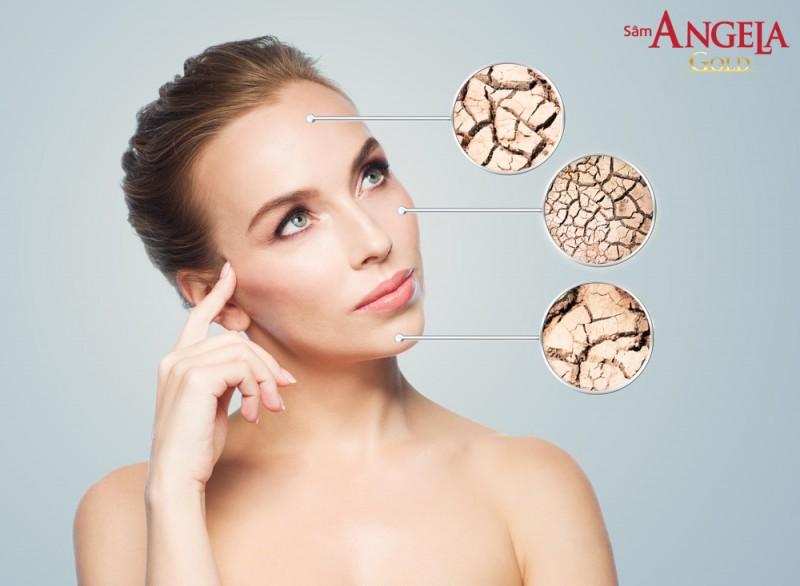 Da khô biểu hiện rõ ra ngoài với tình trạng bề mặt da thô ráp, sần sùi và  thường có cảm giác ngứa, rát khó chịu.